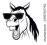 Portreit Of Smiling Horse With...