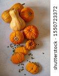 Assortment Of Autumn Pumpkins...