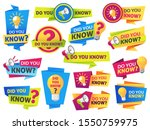 do you know. label sticker with ...   Shutterstock .eps vector #1550759975