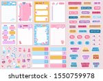 planner and stickers. organized ... | Shutterstock .eps vector #1550759978