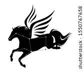 flying pegasus horse and star... | Shutterstock .eps vector #1550767658