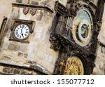 prague astronomical clock. | Shutterstock . vector #155077712