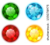 the set of four colorful gems... | Shutterstock .eps vector #155078975