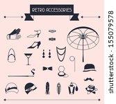 retro personal accessories ... | Shutterstock .eps vector #155079578