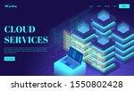isometric web servers. cloud...   Shutterstock .eps vector #1550802428