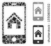 smartphone homepage composition ... | Shutterstock .eps vector #1550805032