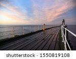 Sunset On The Pier At Whitby