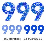 999 Digits Text Mosaic Of Rough ...