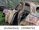 Car Wreck With Open Doors