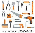 set of tools of a joiner and...   Shutterstock .eps vector #1550847692