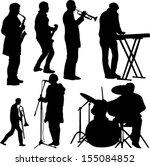 musicians collection   vector | Shutterstock .eps vector #155084852