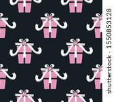 funny christmas seamless... | Shutterstock . vector #1550853128