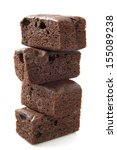 Tasty Brownie Pile Isolated On...