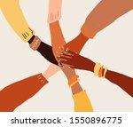 Llustration Of A People's Hands ...