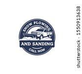 truck snow plowing badge logo... | Shutterstock .eps vector #1550913638