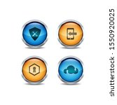 3d ui circle button icon set...