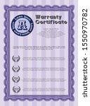 violet vintage warranty...   Shutterstock .eps vector #1550970782