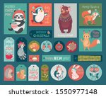 christmas cards and gift tags... | Shutterstock .eps vector #1550977148