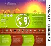 website template  | Shutterstock .eps vector #155098016