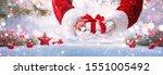 christmas present from santa... | Shutterstock . vector #1551005492