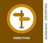 road direction. crossroad... | Shutterstock .eps vector #1551007652