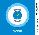 hand watch icon  wristwatch... | Shutterstock .eps vector #1551008978
