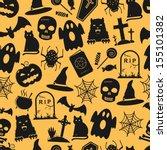 seamless halloween pattern | Shutterstock .eps vector #155101382