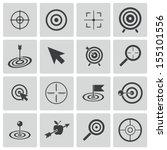 vector black  target  icons set | Shutterstock .eps vector #155101556