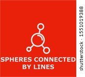 spheres connected by lines... | Shutterstock .eps vector #1551019388