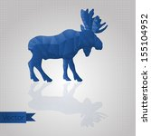abstract triangular blue moose... | Shutterstock .eps vector #155104952