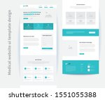 medical website ui template...