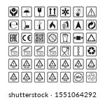 packaging icons  package signs...   Shutterstock .eps vector #1551064292
