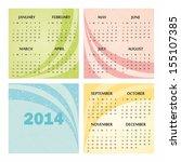 2014 calendar design. | Shutterstock .eps vector #155107385