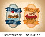 cupecake badges and labels 03 | Shutterstock .eps vector #155108156