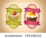 cupecake badges and labels 02 | Shutterstock .eps vector #155108162