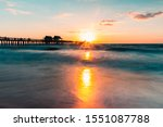 Sunset At Naples Florida With...