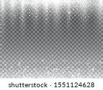 snow falling on transparent... | Shutterstock .eps vector #1551124628