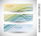 website header colorful wave... | Shutterstock .eps vector #155112812