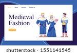 medieval fashion landing page...