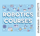 robotic courses word concepts...