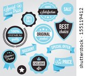 vector badges stickers and... | Shutterstock .eps vector #155119412