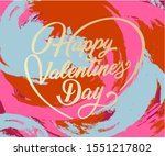 happy valentine's day greeting... | Shutterstock .eps vector #1551217802