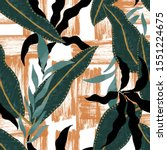 foliage pattern made in digital ... | Shutterstock . vector #1551224675