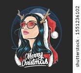Santa Claus Girl Deer Horn Use...