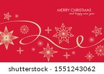christmas greetings banner with ... | Shutterstock .eps vector #1551243062