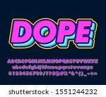 bold pop art text effect with... | Shutterstock .eps vector #1551244232