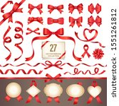 red ribbons and labels set ... | Shutterstock .eps vector #1551261812