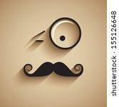 old fashioned gentleman. vector ... | Shutterstock .eps vector #155126648