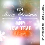 merry christmas and happy new... | Shutterstock .eps vector #155126882