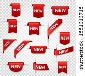 new labels. newest product red... | Shutterstock .eps vector #1551313715